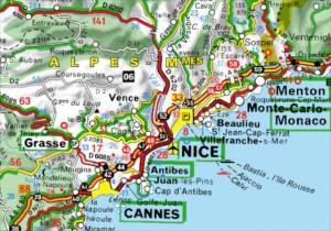 1. Kaart Zuid-Frankrijk