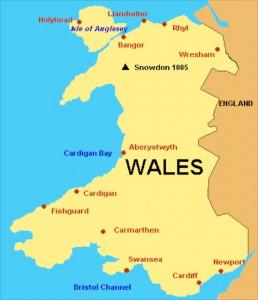 2. Kaart Wales