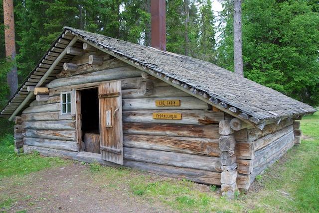 88. Log cabin